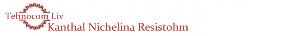 Banda Resistohm 135 - Banda Resistohm 135 (Kanthal D) - Banda Kanthal din Crom Aluminiu Fier - Platbandă rezistivă cu profil PLAT - Bandă RESISTOHM din KANTHAL si NICHELINĂ -