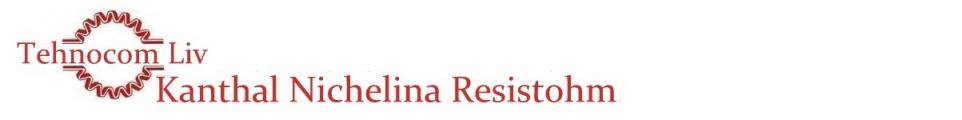 Bandă RESISTOHM din KANTHAL si NICHELINĂ - Platbandă rezistivă cu profil PLAT - Nichel Fier si Fier Nichel Aluminiu -